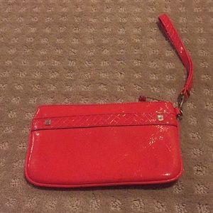 NEW! Red Liz Claiborne wristlet